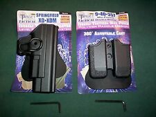 SPRINGFIELD XD 9MM/.40 RH LVL II RETENTION HOLSTER + DUAL MAGAZINE POUCH PADDLE