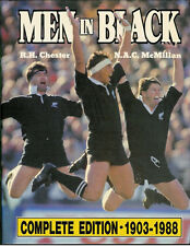 MEN IN BLACK by Chester & McMillan - SIGNED RUGBY BOOK NEW ZEALAND HISTORY