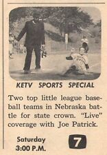 1965 tv ad ~ NEBRASKA LITTLE LEAGUE TEAMS on KETV w JOE PATRICK in OHAMA,NE