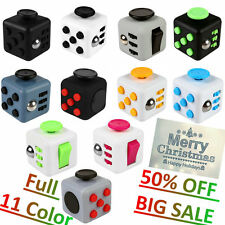 Fun Magic Fidget 6-side Cube Xmas Children Gift Adults Anxiety Stress Relief Toy