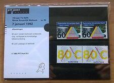 """Nederland PTT mapje 90 """"150jaar TU Delft"""" 1992"""