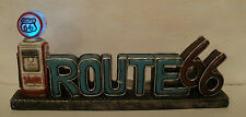 New Route 66 Resin Sign & Gas Pump W/LED Globe Light - Antique / Vintage Style