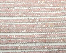 "13"" MORGANITE PINK AQUAMARINE 2.5mm Faceted Rondelle Beads NATURAL AAA /D5"