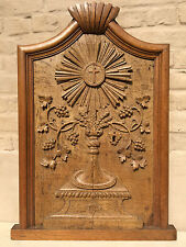 Stunning French Gothic Tabernacle church door in oak / monstrance carving