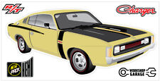 New! Collectable Chrysler VH Valiant Charger R/T - HOT MUSTARD