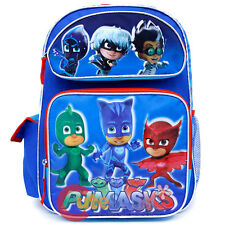 "PJ Masks Large School Backpack 16"" Boys Book Bag Owlette Gekko School Bag"