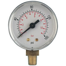 Pressure Gauge 50mm G1/8bspt 0 - 6Bar/100psi Stem
