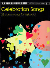 CELEBRATION SONGS EASY KEYBOARD LIBRARY & VOICE VARIOUS STYLES MUSIC BOOK NEW
