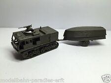 Roco Minitanks US Army Kettenzugmaschine M4 mit Bootsanhänger oliv (PC27)