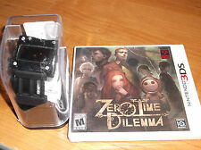 ZERO TIME DILEMMA NEW Nintendo 3DS GAME & Rare WATCH