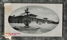 Eugene,Oregon,So.Pacific Depot & Fountain,Picture Frame Border,Used,No Stamp,'15