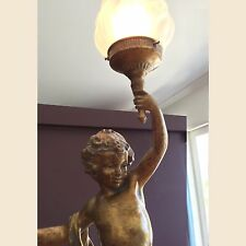 MOREAU STYLE CHERUB TABLE LAMP LIGHT (FACING LEFT)  - WILL SHIP AUSTRALIA WIDE