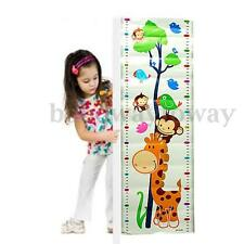 Cute Baby Kid Growth Up Height Chart Wall Cartoon Nursery Sticker Bed Room Decor