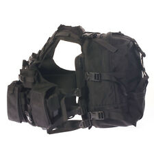 AGILITE Hi-Vest HiVest TACTICAL GEAR BLACK MODULAR ASSAULT PACK SET W/BACK POUCH