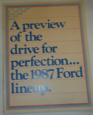 Ford Magazine A Preview Of The Drive For Perfection 1987 122614R