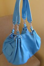 Juicy Couture Blue Leather Hobo Purse
