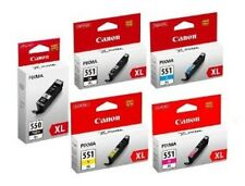 5 Canon PGI-550XL CLI-551XL Ink Cartridge Set for Genuine Canon Pixma MG5450 Ink
