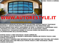 INTERFACCIA RETROCAMERA MONITOR DI SERIE TOYOTA TOUCH 2 GT86 PRIUS PRIUS PLUS