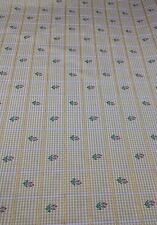 """Baker Upholstery Fabric Yellow Floral Check by the yard x 55"""" W NEW LBFO FF"""