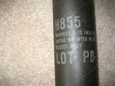 "VINTAGE MILITARY H855 Warhead 2.75"" Rocket Empty Tube"