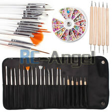 20 Pcs Nail Art Design Painting Dotting Pen Brushes Set Tips Tool / Nail Kit
