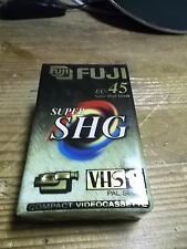 FUJI Super SHG  EC- 45 VHS C  Kasette Neu Hi-Fi VHS-C Leerkasette Profiqualität