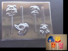 Winnie the Pooh Eeyore Piglet Tigger Face Lollipop Chocolate Candy Soap Mold