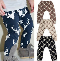 Newest Baby Boys Girls Deer Bottom Pants Leggings Harem Pants Trousers Age 0-4Y