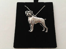D8 Boxer on a 925 sterling silver Necklace Handmade 26 inch chain