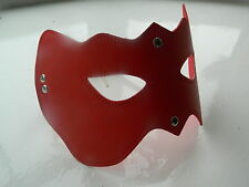 Red Leather Masquerade Ball Party Opera Bat Cat Woman Eye Mask - FREE UK P&P