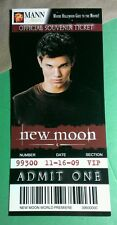 TWILIGHT NEW MOON JACOB BLACK TAYLOR WOLF MANN THEATRES OFFICIAL SOUVENIR TICKET
