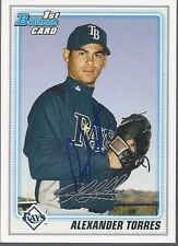New York Mets ALEX TORRES Signed Bowman Card