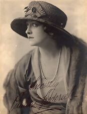 ANTIQUE PHOTOGRAPH PAULINE FREDERICK HAND SIGNED IN INK STAGE FILM ACTRESS HAT