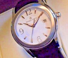 Mint MAURICE LACROIX SS SH1018 Sphere Quartz Watch with Box