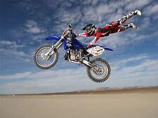 ART PRINT POSTER SPORT MOTORBIKE STUNT DESERT DIRT BIKE MOTOCROSS NOFL0444