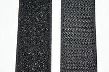 Gp 24,95 €/m Klettband schwarz 10 cm x 20 cm Klettverschluss klebend