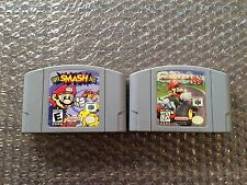 Super Smash Bros. + Mario Kart 64 (poor shape) Nintendo 64, N64 LOT - Tested