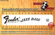Fender Jazz Bass 1974 Headstock Restoration Waterslide Decal