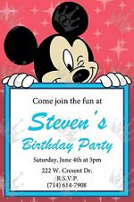 Mickey Mouse Invite Template/Customization To Meet Your Needs/BDay/Baby Shower