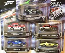 HOT WHEELS RETRO ENTERTAINMENT 2016 SET FORZA ROMEO FORD CAMARO LAMBORGHINI