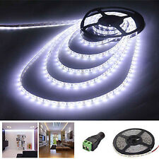 5M 3528 SMD 600 Leds Strip Light Waterproof Tpae Cool White 12V Party Flexible