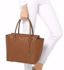 NWT in Pack MICHAEL KORS Studio Leather Mercer Large Satchel Tote Luggage Brown