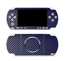 Blue Carbon Fiber Vinyl Decal Skin Sticker Cover for Sony PSP 3000