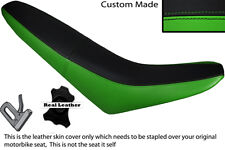 BLACK & GREEN CUSTOM FITS MZ 125 SM LEATHER DUAL SEAT COVER ONLY