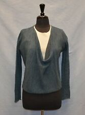 A3 Auth EILEEN FISHER Alpaca/Merino Wool  Long Sleeve Cowl Neck Sweater Size PM