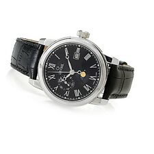 Gevril 39mm Cortland Limited Edition Swiss Made Quartz Moonphase Strap Watch