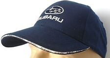 Subaru Classic Auto Blue Baseball Cap Cotton Logo Embroidered In Front Hat