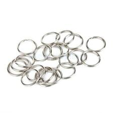 Lot 100pcs Split Key Rings Nickle Plated Keychain Bulk 1.5x20mm Silver
