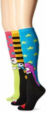 TeeHee Monster Socks Fun Socks 3-Pair Pack Cotton Knee High Socks