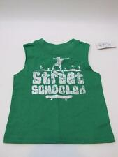 NWT Baby Boys CHILDREN'S PLACE Sleeveless T-Shirt Green Skateboard 6-9 Months